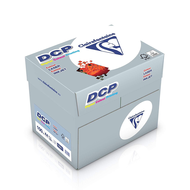 Clairefontaine Druckerpapier DCP in satiniertem Weiß / 5 x 500 Blatt in DIN A4 mit 100 Gramm / Premi