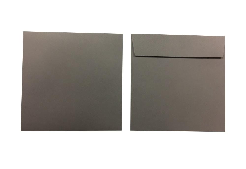 Pop'Set Umschläge Quadro dunkelgrau 120g/m² 250 Stück
