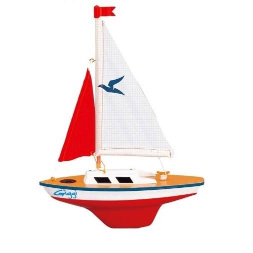 Paul Günther 1802 - Segelboot Giggi, kleine Segeljolle zum Spielen, ca. 24 x 32 cm groß, hochwertig