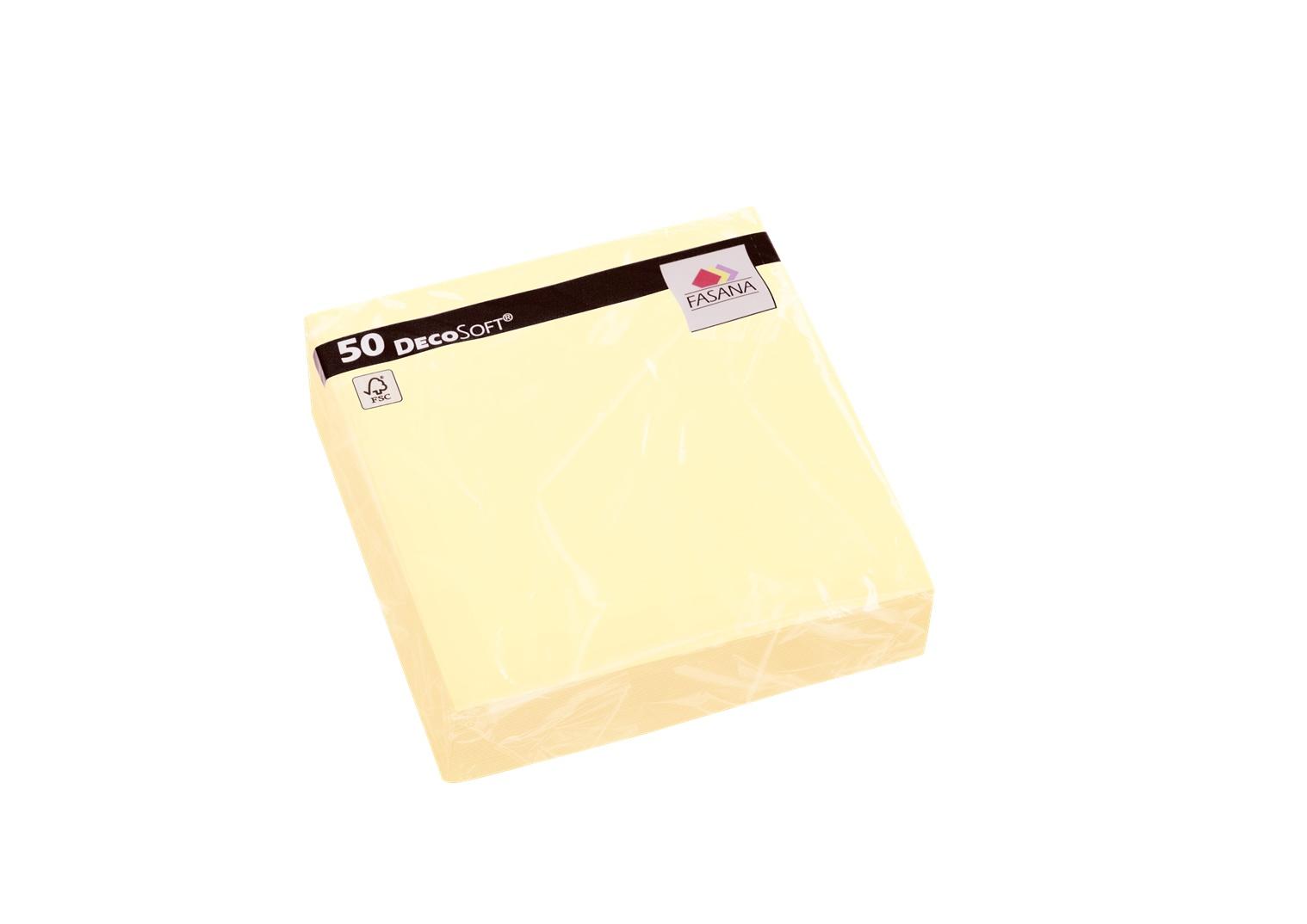 Fasana Servietten 40 x 40 cm 1/4 Falzung 50 Stück buttercream