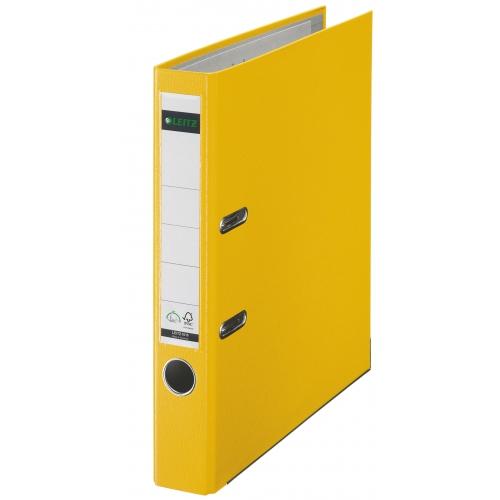 Leitz Qualitäts-Ordner 180° Plastik - A4, 52 mm, gelb