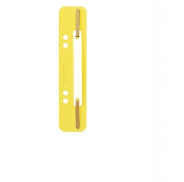 LEITZ 3710 Einhänge-Heftstreifen PP, kurz - gelb, 250 Stück