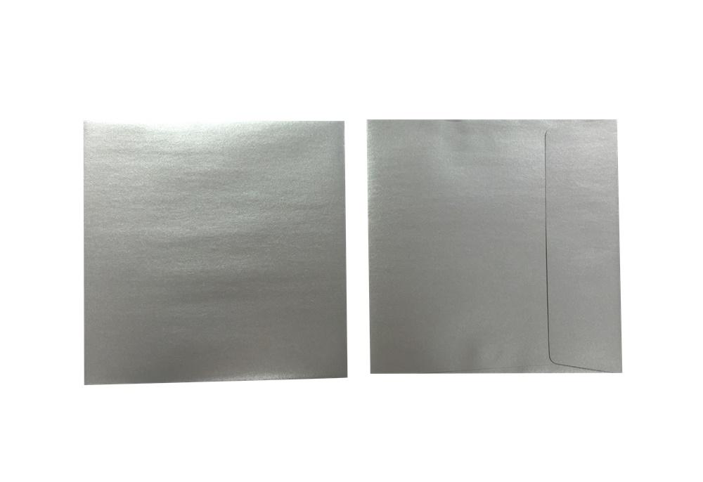 Inapa Shyne Umschläge Quadro Silver 120g/m² 100 Stück