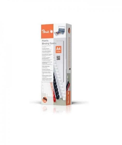 Peach PB410-02 Plastikbinderücken DIN A4, 10 mm, 65 Blatt, 100 Stück, schwarz