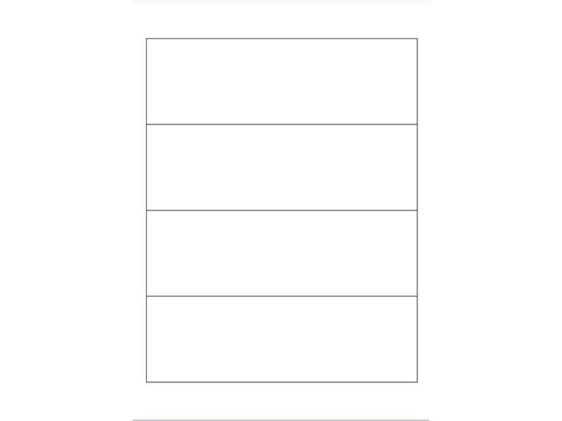 Igepa Ordneretiketten 192,0 x 61,0 mm 100 Blatt in weiß