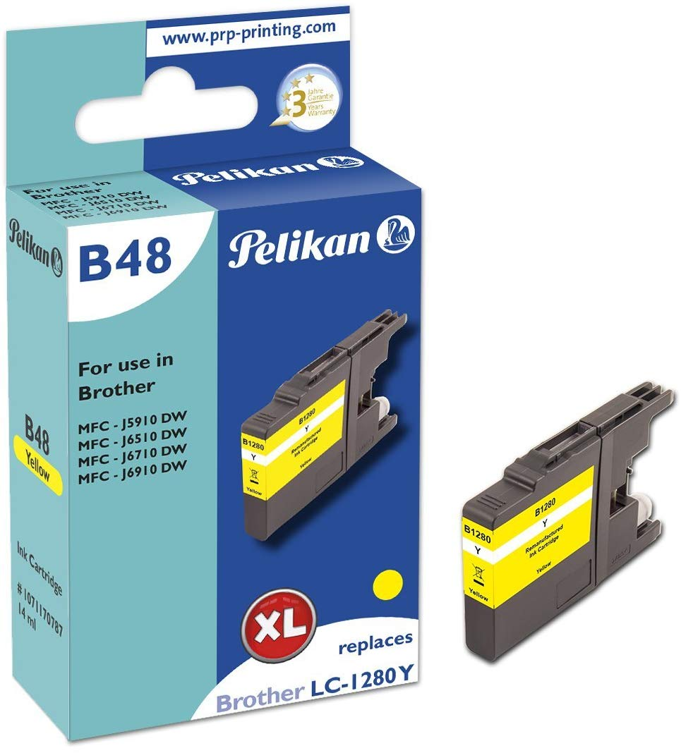 Pelikan Tintenpatrone ersetzt Brother LC-1280XL Y, Yellow, 1200 Seiten
