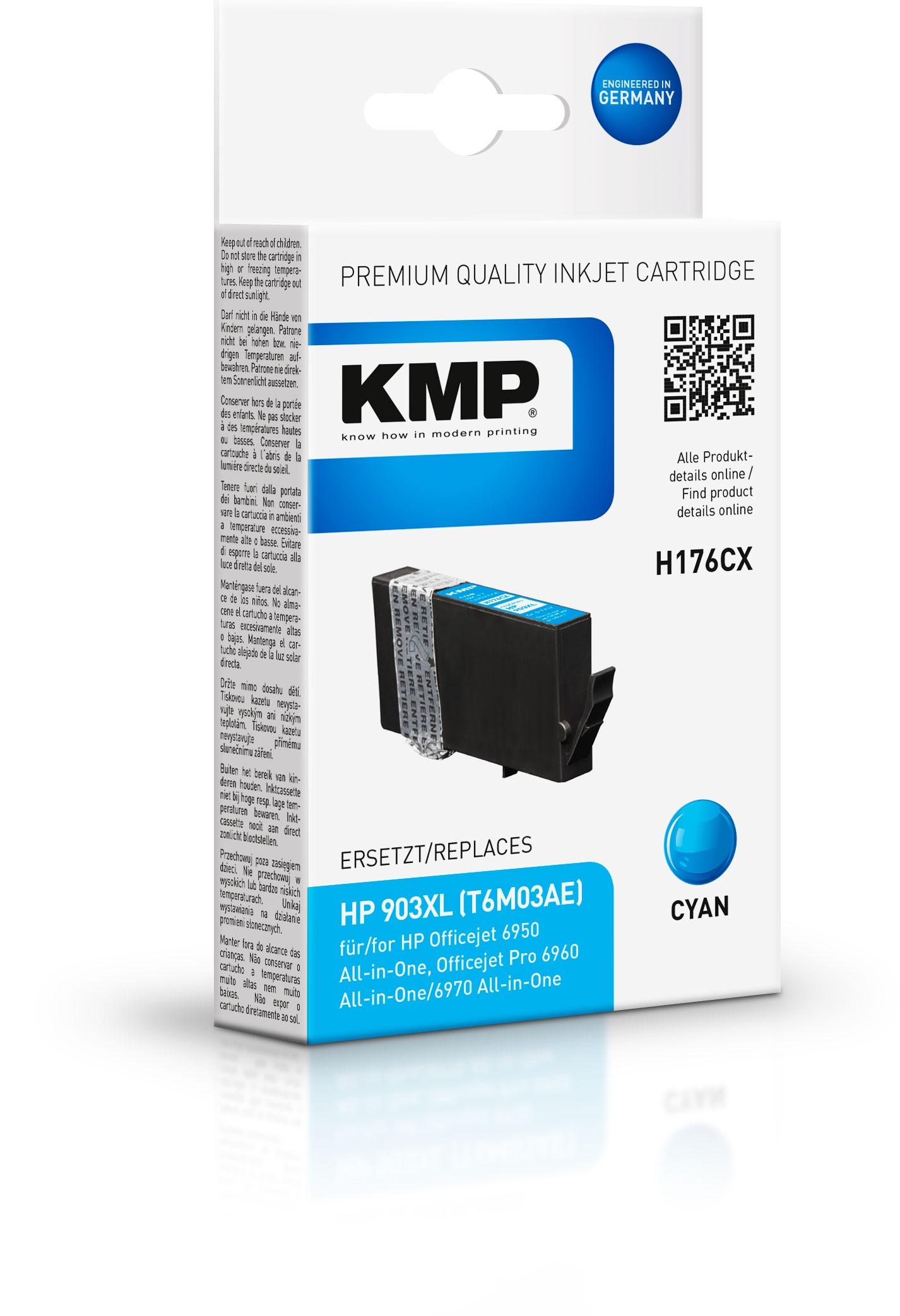 KMP Patrone H176CX für T6M03AE HP 903XL Officejet 6950 Officejet Pro 6960 etc. cyan