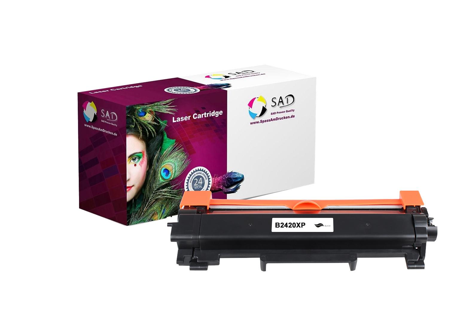 SAD Premium Toner komp. mit Brother TN-2420XXL schwarz / black mit Chip