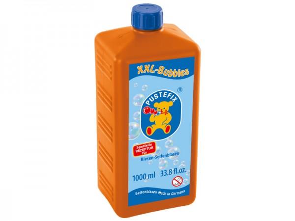 Pustefix – Nachfüllflache für XXL Blasen – 1 L Seifenblasenflüssigkeit – Seifenblasen – XXL-Bubbles