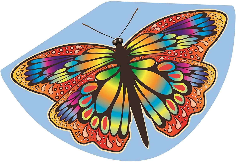 Paul Günther 1104 - Kinderdrachen mit Schmetterling Motiv, Einleinerdrachen aus robuster PE-Folie mi