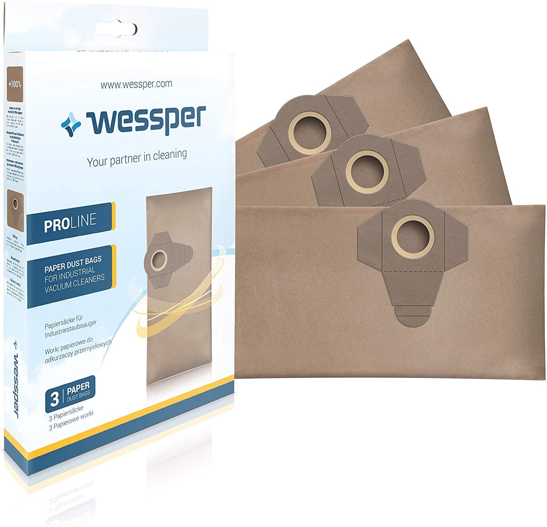 Wessper® Staubsaugerbeutel für Einhell TE-VC 1820 1250 RT-VC 1420 1500 1600 BT-VC 1250 S Parkside PN