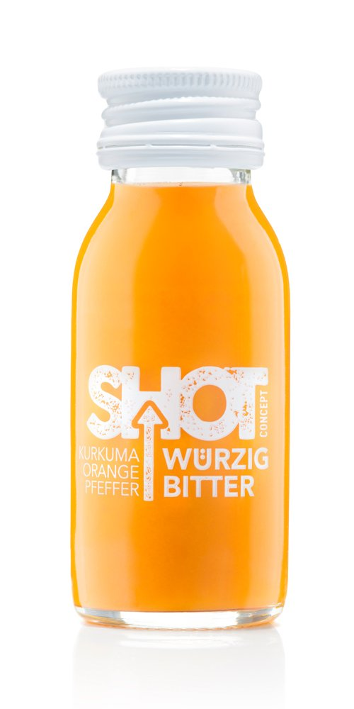 Shot Concept - Kurkumashot - Würzig Bitter, 1x60ml Glasflasche