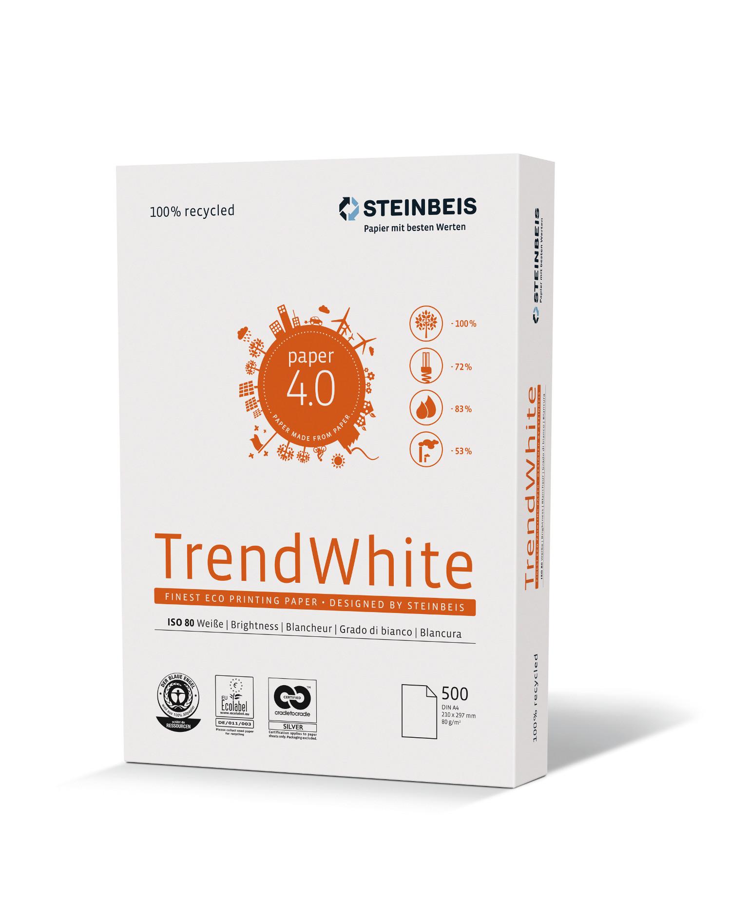 Steinbeis Trend White 80g/m² DIN-A3 500 Blatt