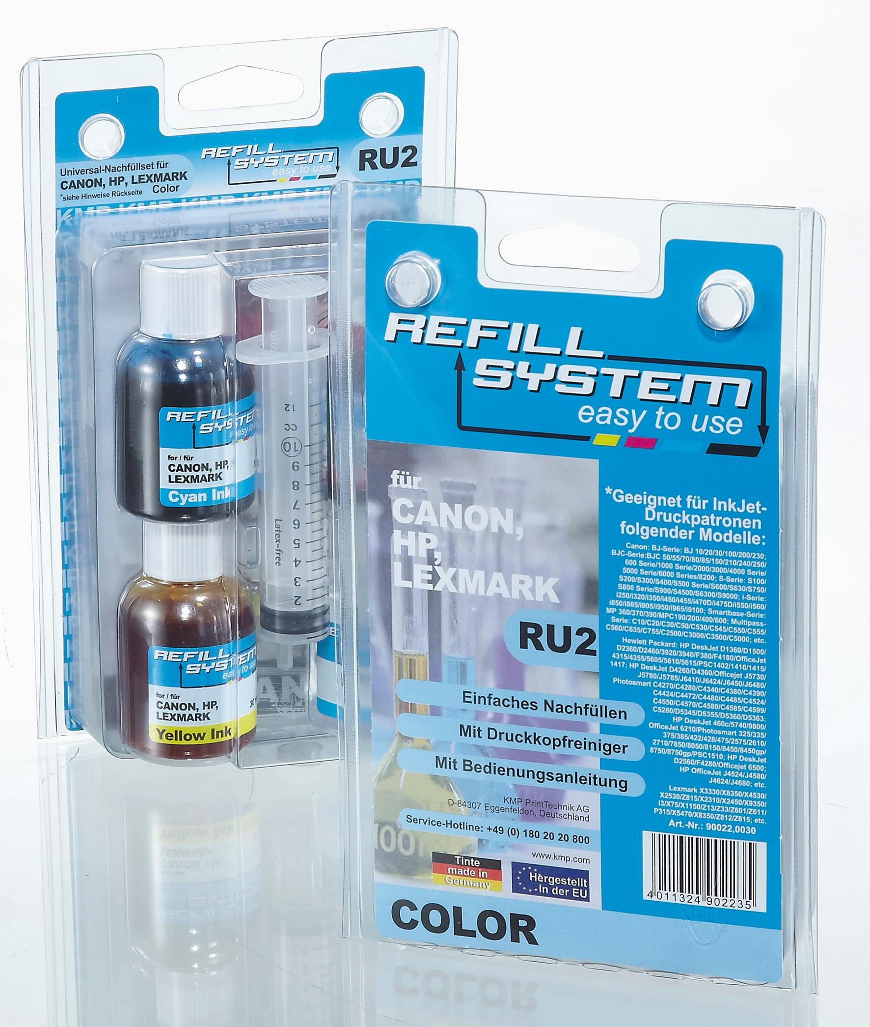 KMP Refill-System RE6 für Epson Stylus D68/D88 color pigmentiert