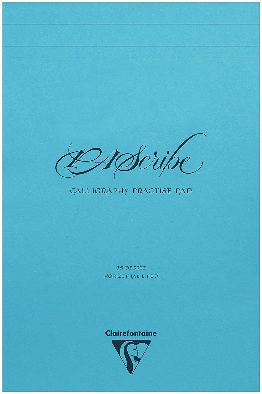 Clairefontaine 96607C – Ein Block für Kalligrafie, Pascribe, 60 Seiten, weißes Körnung, 90 g, 21 x 3