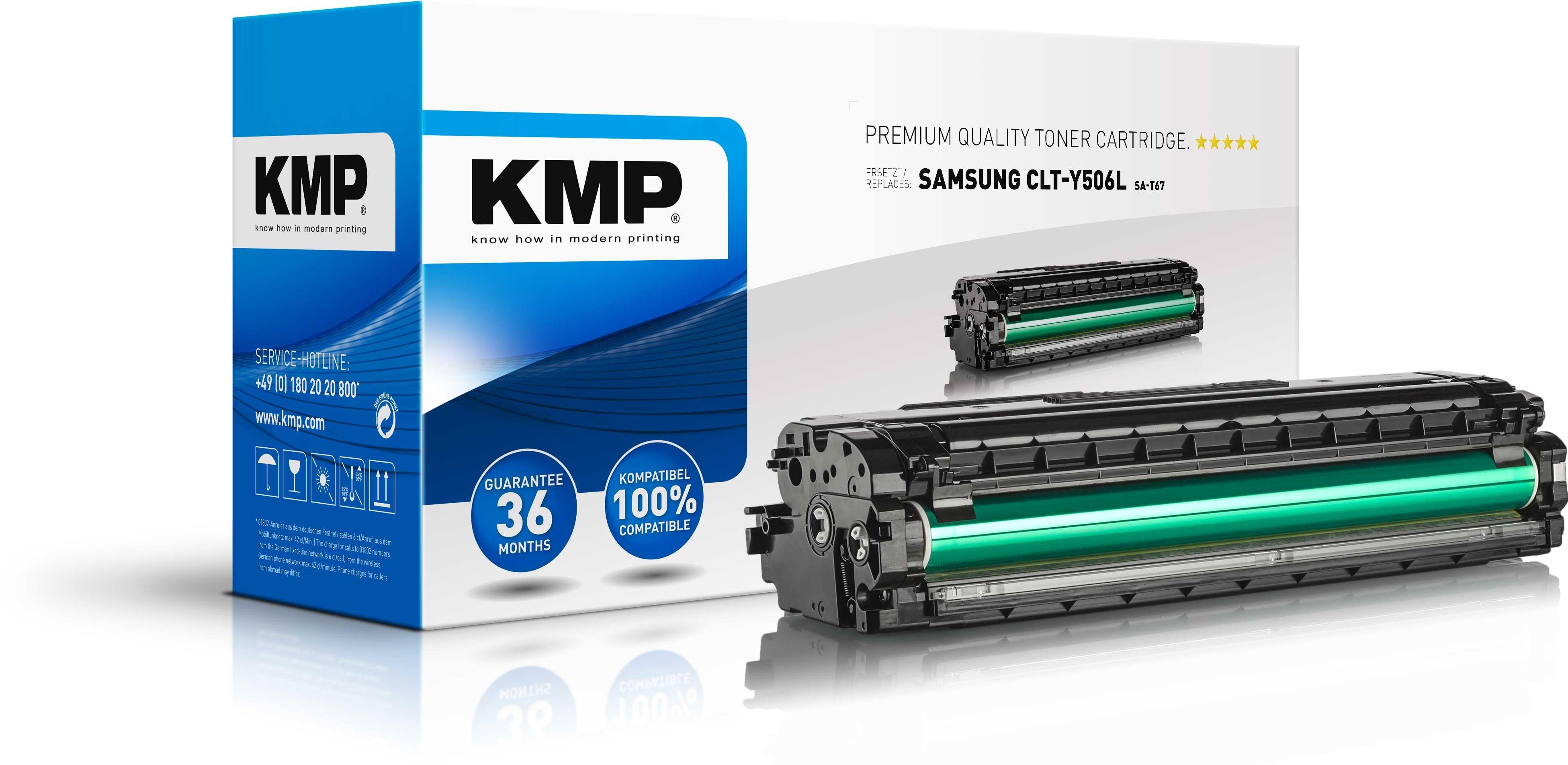 KMP Toner SA-T67 für CLT-Y506L Samsung CLP-680DW etc. yellow