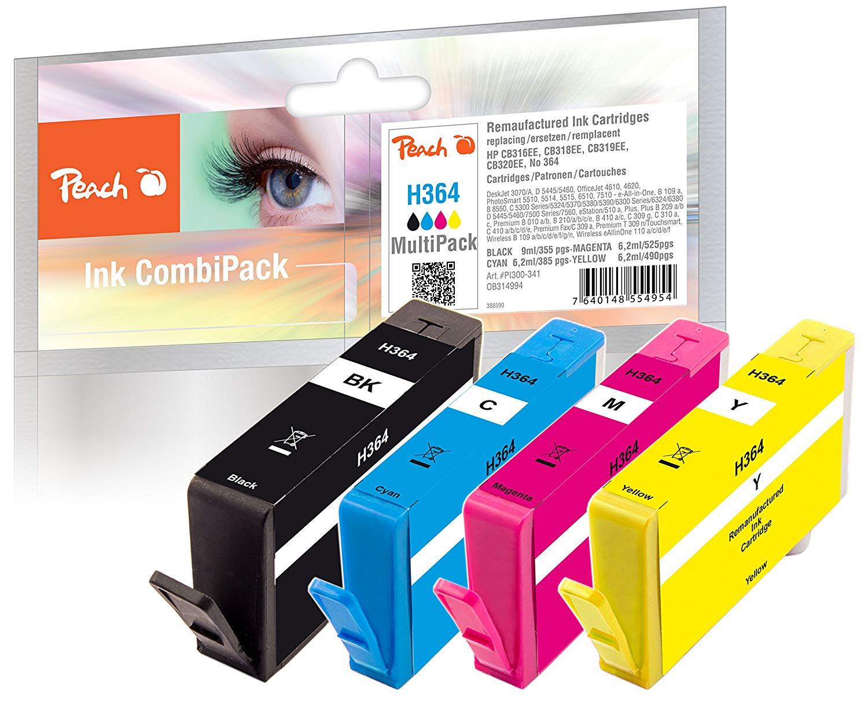 Peach Spar Pack Tintenpatronen kompatibel zu HP No. 364 N9J73AE - PI300-341