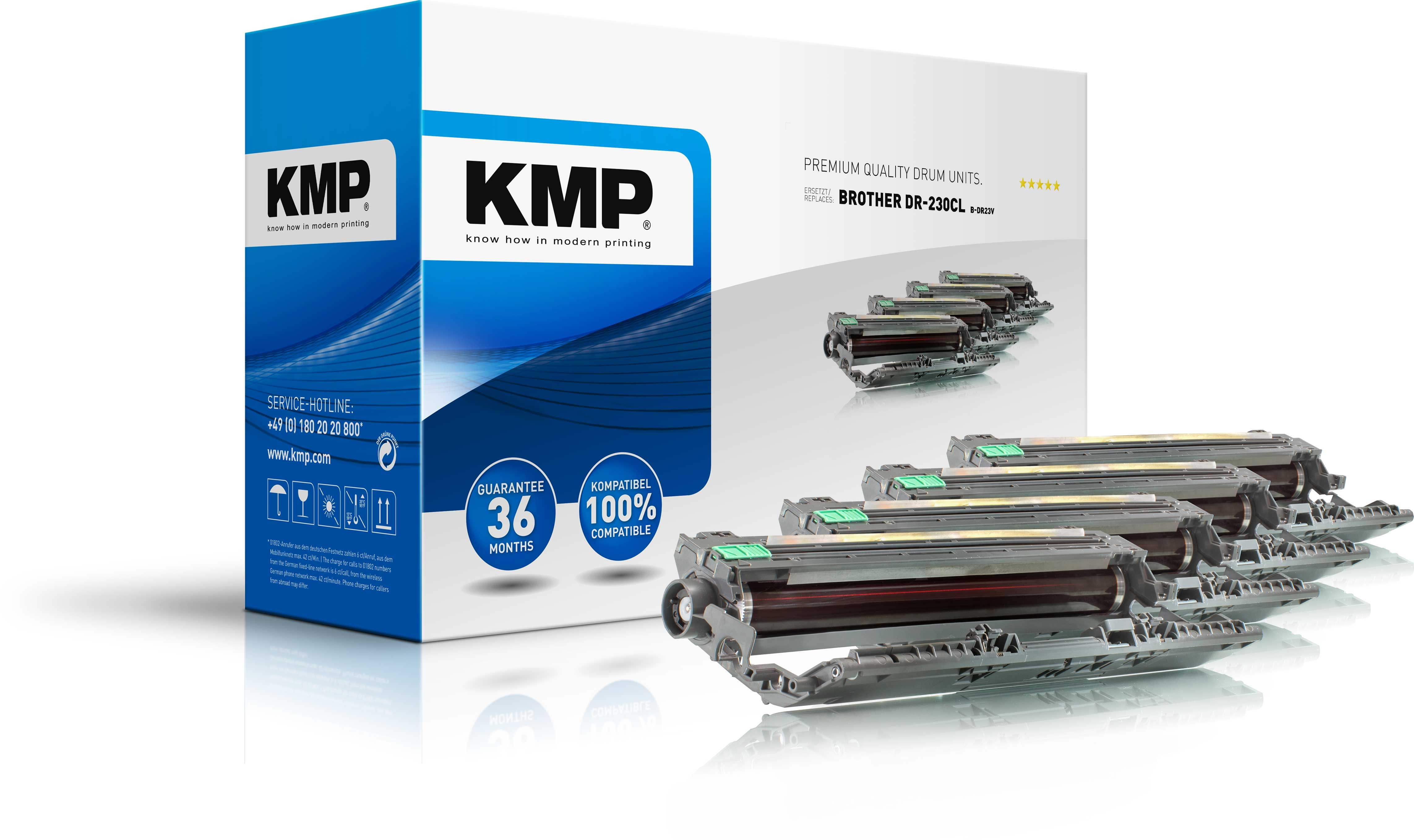 KMP Trommel B-DR23V für Brother DR230CL DCP-90120CN  etc. multipack