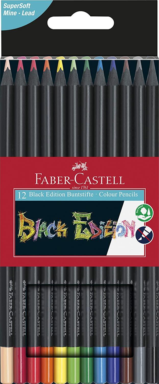 Faber-Castell 116412 - Buntstifte Blackwood, 12er Etui