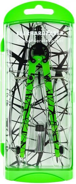 Eberhard Faber 571703 Schnellverstellzirkel im Etui, neon grün