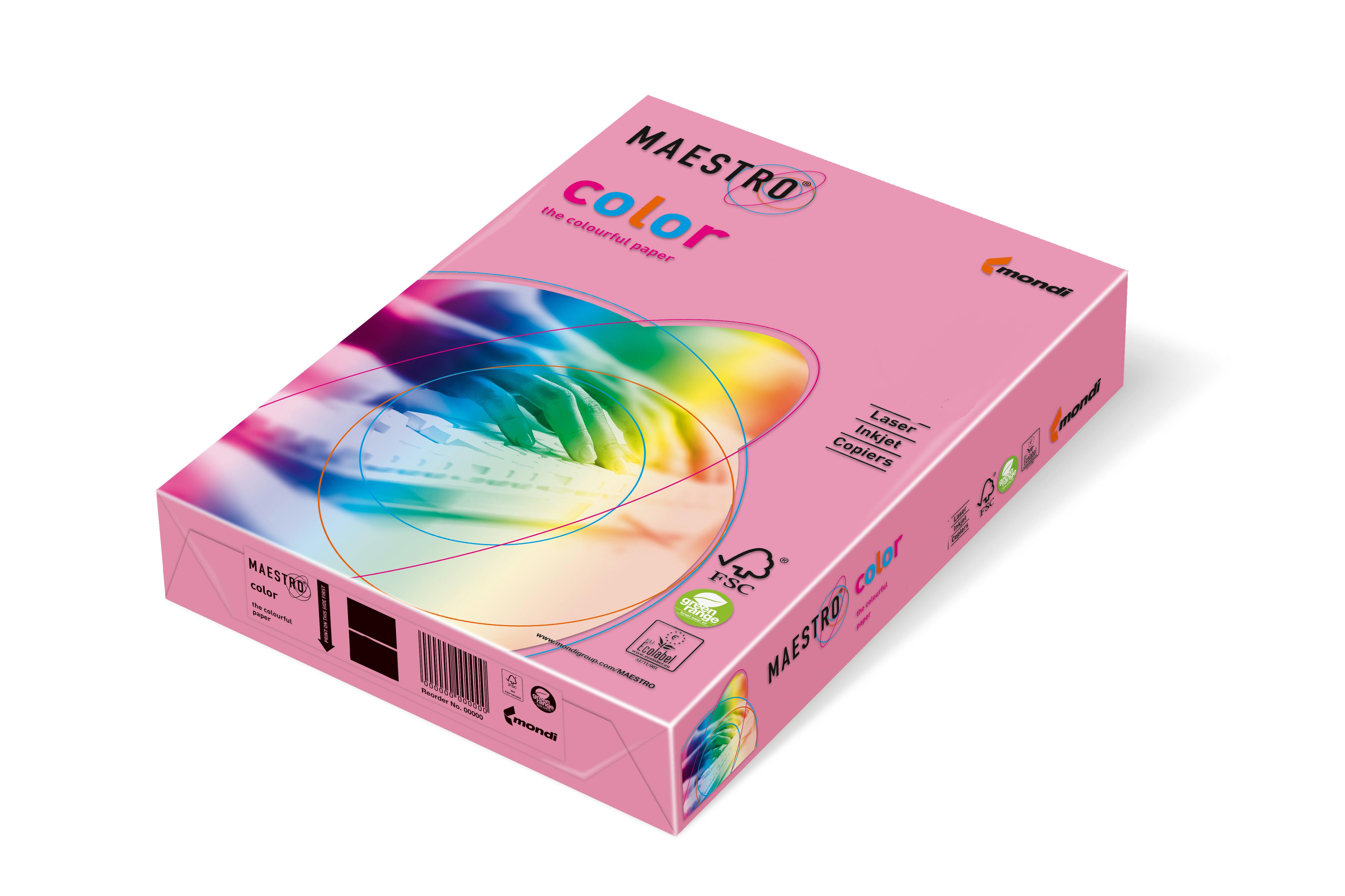 Vorschau: Mondi Maestro Color rosa 80g/m² DIN-A4 - 500 Blatt PI25