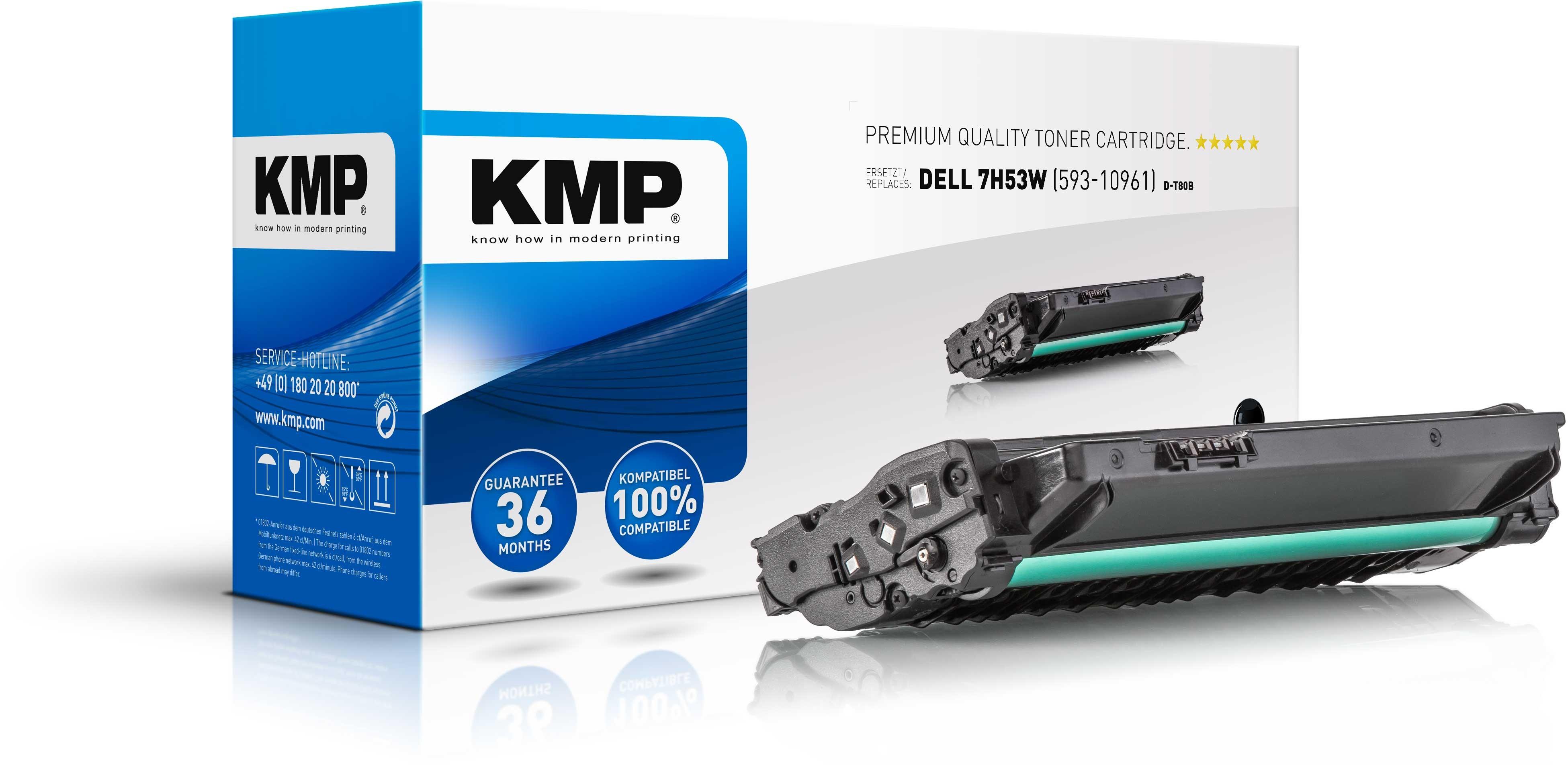 KMP Toner D-T80B für Dell 7H53W 1130 etc. Black