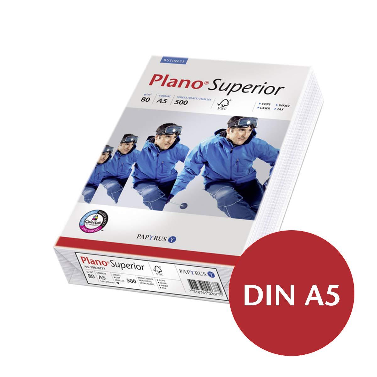 Plano Superior 80g/m² DIN-A5 - 500 Blatt Papier weiß