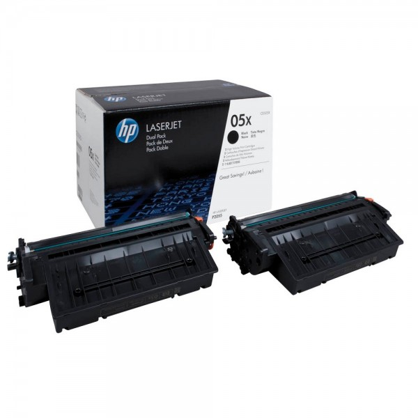 Original HP Toner 05X - CE505XD für LJ P2055 black Doppelpack