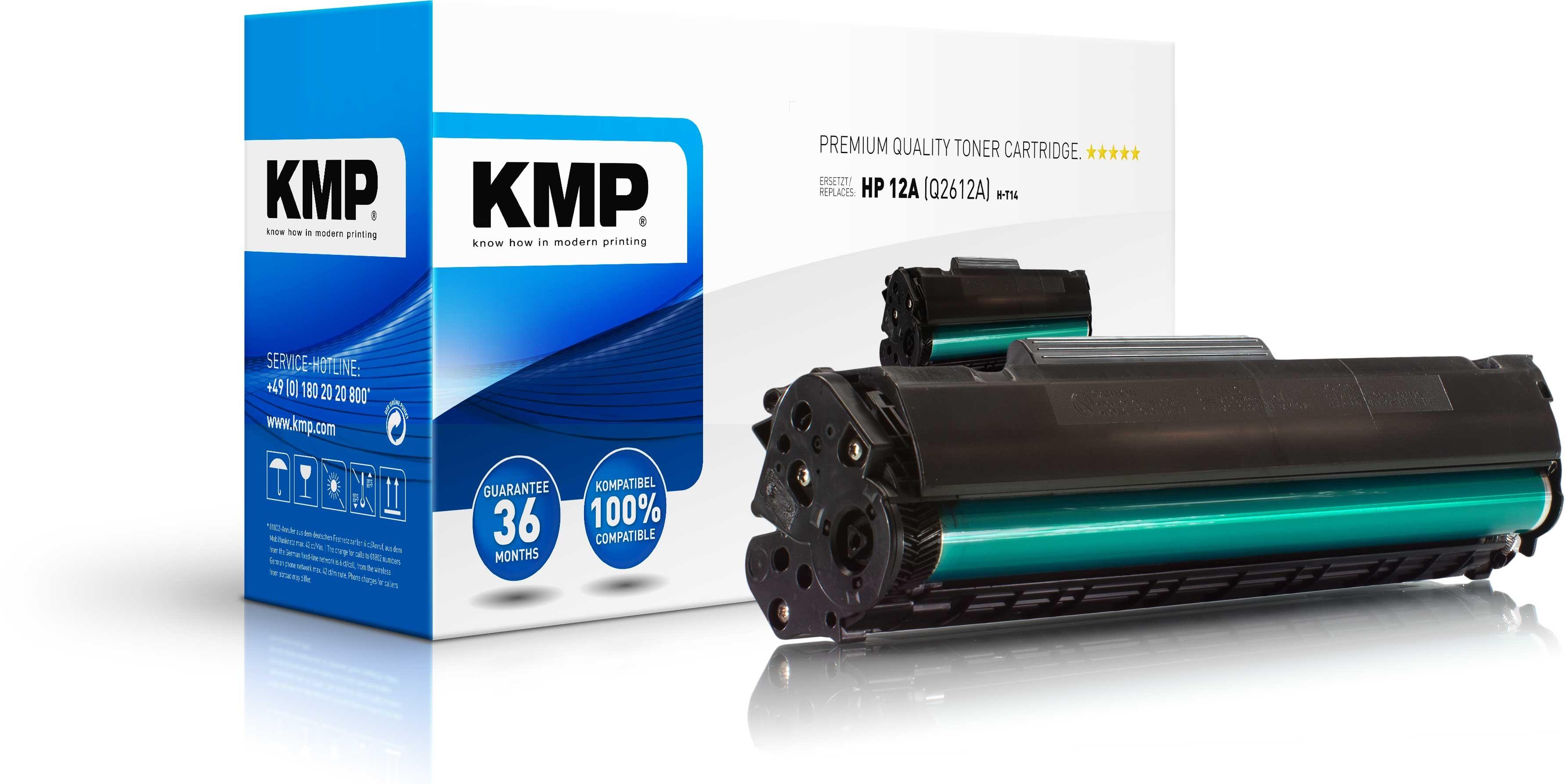 KMP Toner H-T14 für HP Q2612A Laserjet 1010 / 1012 / 1015 / 3015 / 302