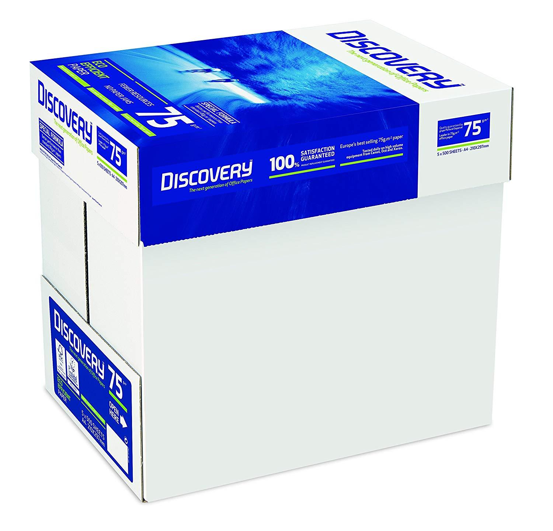100.000 Blatt Discovery Druckerpapier 75g/m² DIN-A4 weiß