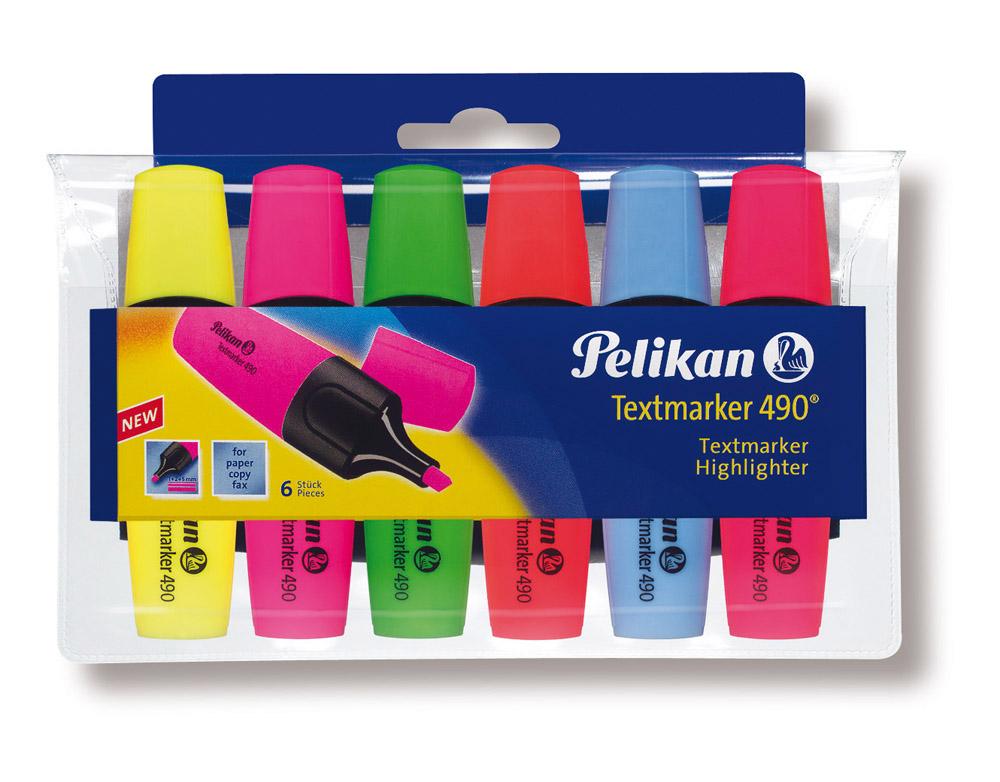 Pelikan Textmarker 490, 6 Stück, farbig sortiert