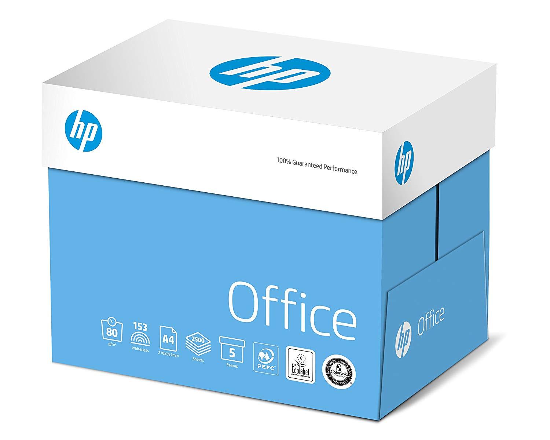 HP Kopierpapier Office CHP110: 80 g DIN-A4, 2500 Blatt (5x500) matt, weiß – Allround Kopierpapier fü