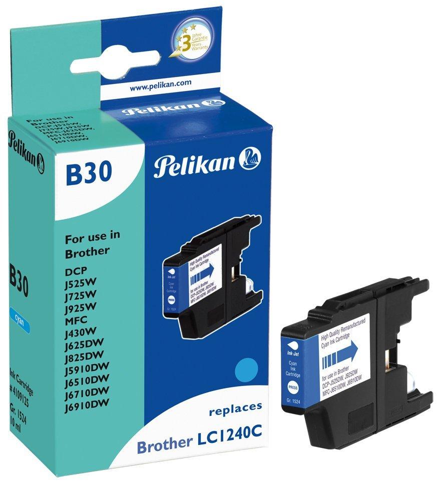 Pelikan Patrone B30 für Brother LC1240c DCP-J525W etc. cyan