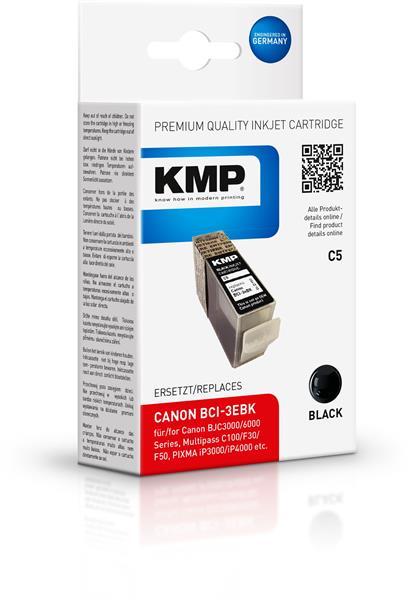 KMP Patrone C5 komp. zu BCI-3eBK Canon Pixma iP 3000 4000 5000 b