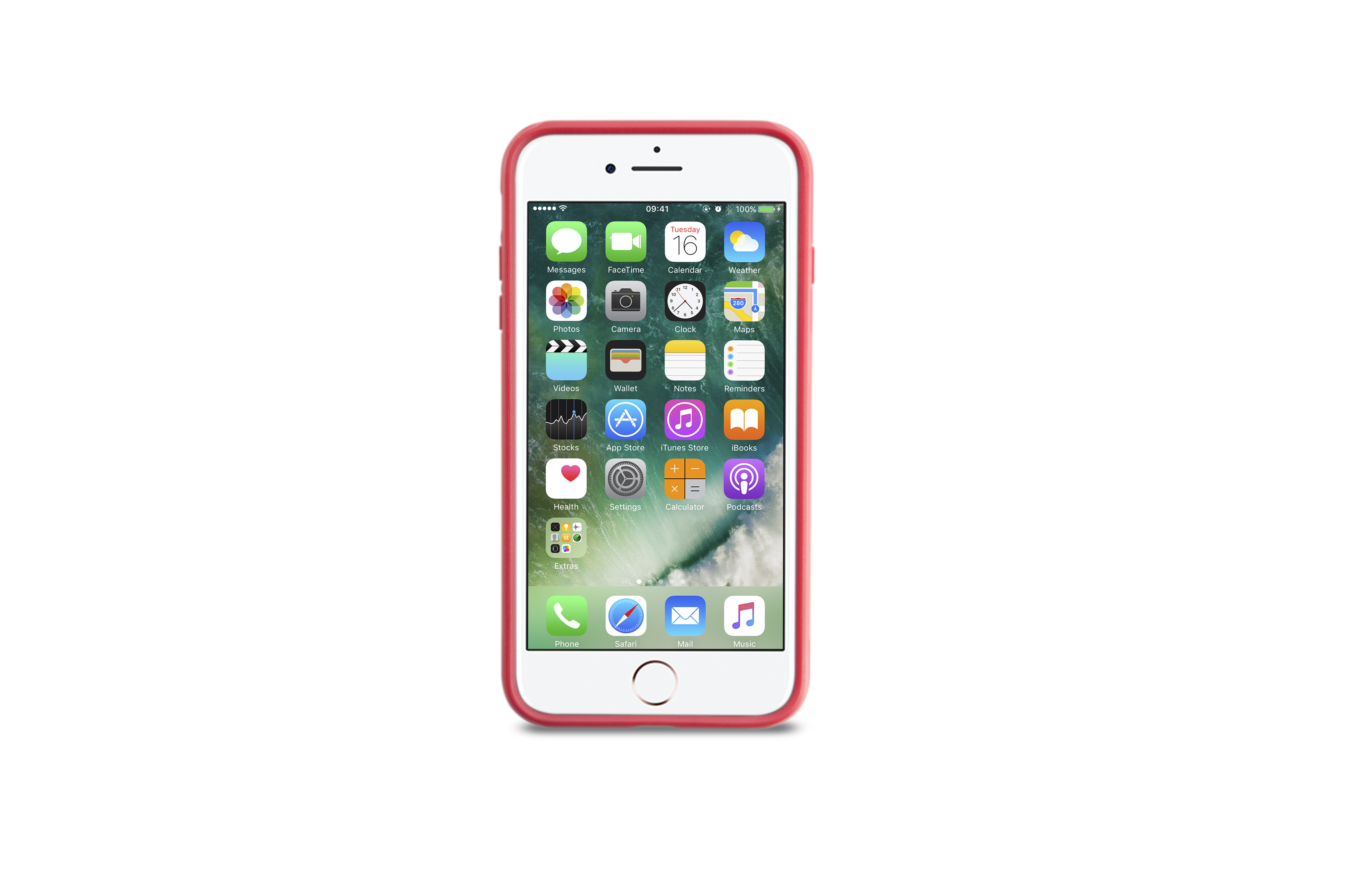 KMP Schutzhülle Sporty Case für Apple iPhone 7 Plus, red watermelon