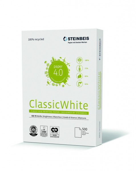 Steinbeis Classic White 80g/m² DIN-A3 500 Blatt