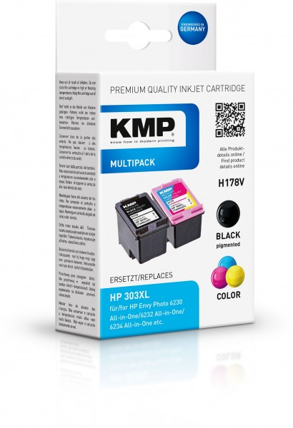 KMP Multipack H178V für HP 303XL (T6N04AE, T6N03AE)