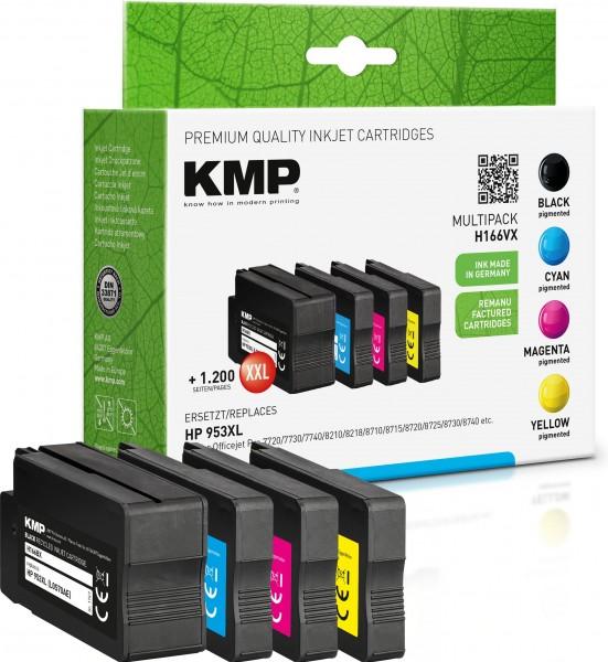 KMP Multipack H166VX schwarz, cyan, magenta, gelb Tintenpatronen ersetzen HP OfficeJet Pro HP953XL (