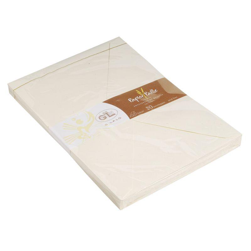 G.Lalo 23616L Umschläge Strohpapier (perfekt für Ihre Einladungen, säurefrei, Format C6, 11,40 x 16,