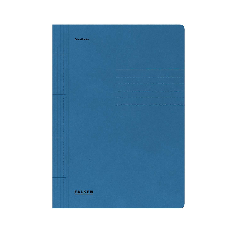Falken 80000201 Schnellhefter aus Recycling-Karton für DIN A4 kaufmännische und Behördenheftung BLAU