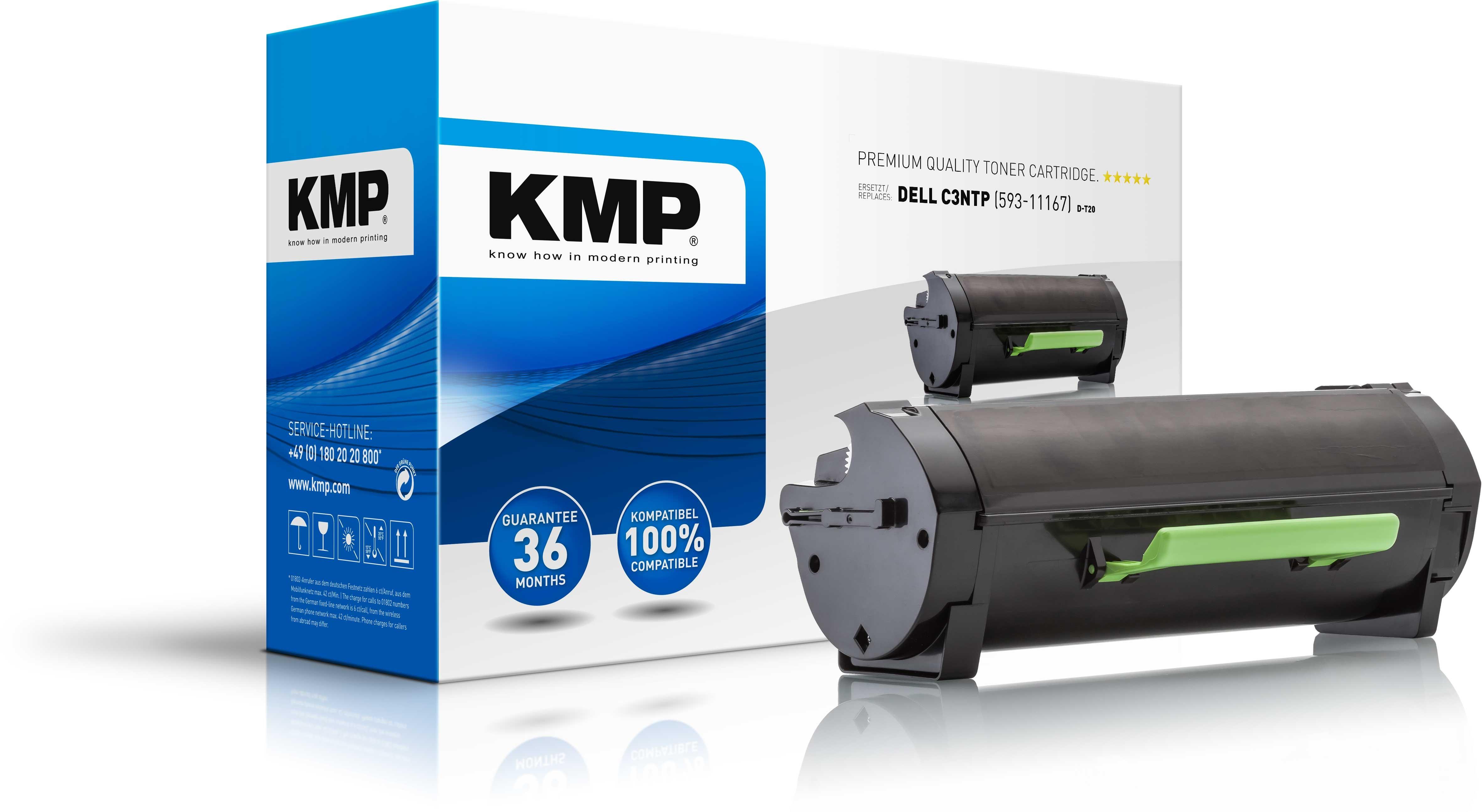 Vorschau: KMP Toner D-T20 für Dell C3NTP B2360d etc. Black