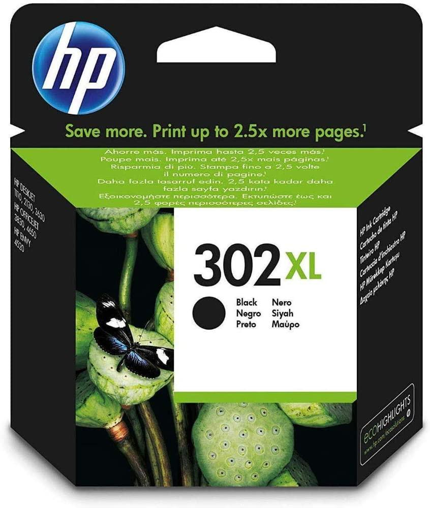 HP 302XL Original Druckerpatrone (mit hoher Reichweite für HP Deskjet 1110, 2130, 3630, HP OfficeJet