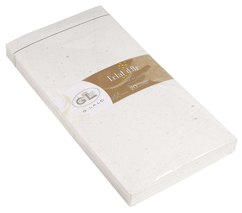 G. LALO Blattgoldpapier Umschläge DIN-Lang 100 g/m² 20 Stück