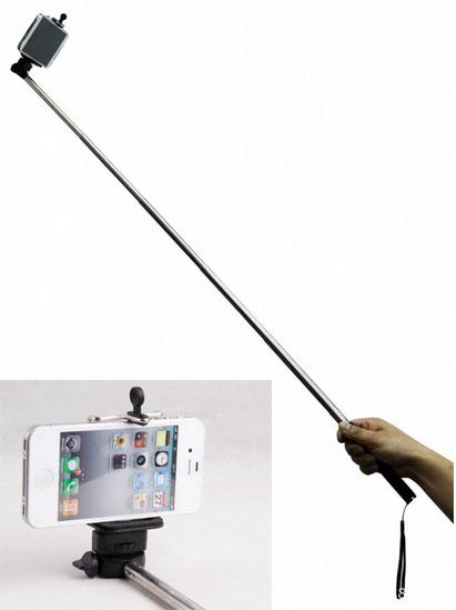 Selfie Stange für Selbstportraits mit Auslöser am Griff