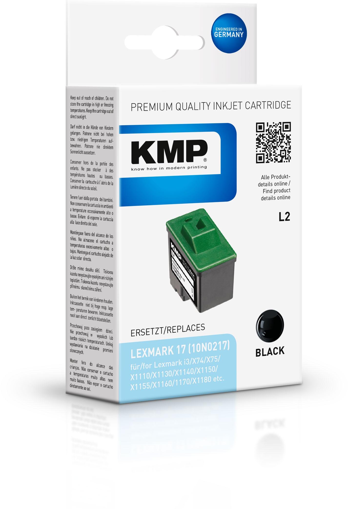 KMP Patrone L2 10N0217 / Nr.17 X74 / X75 / X1100 Serie / X2250 / Z33 schwarz