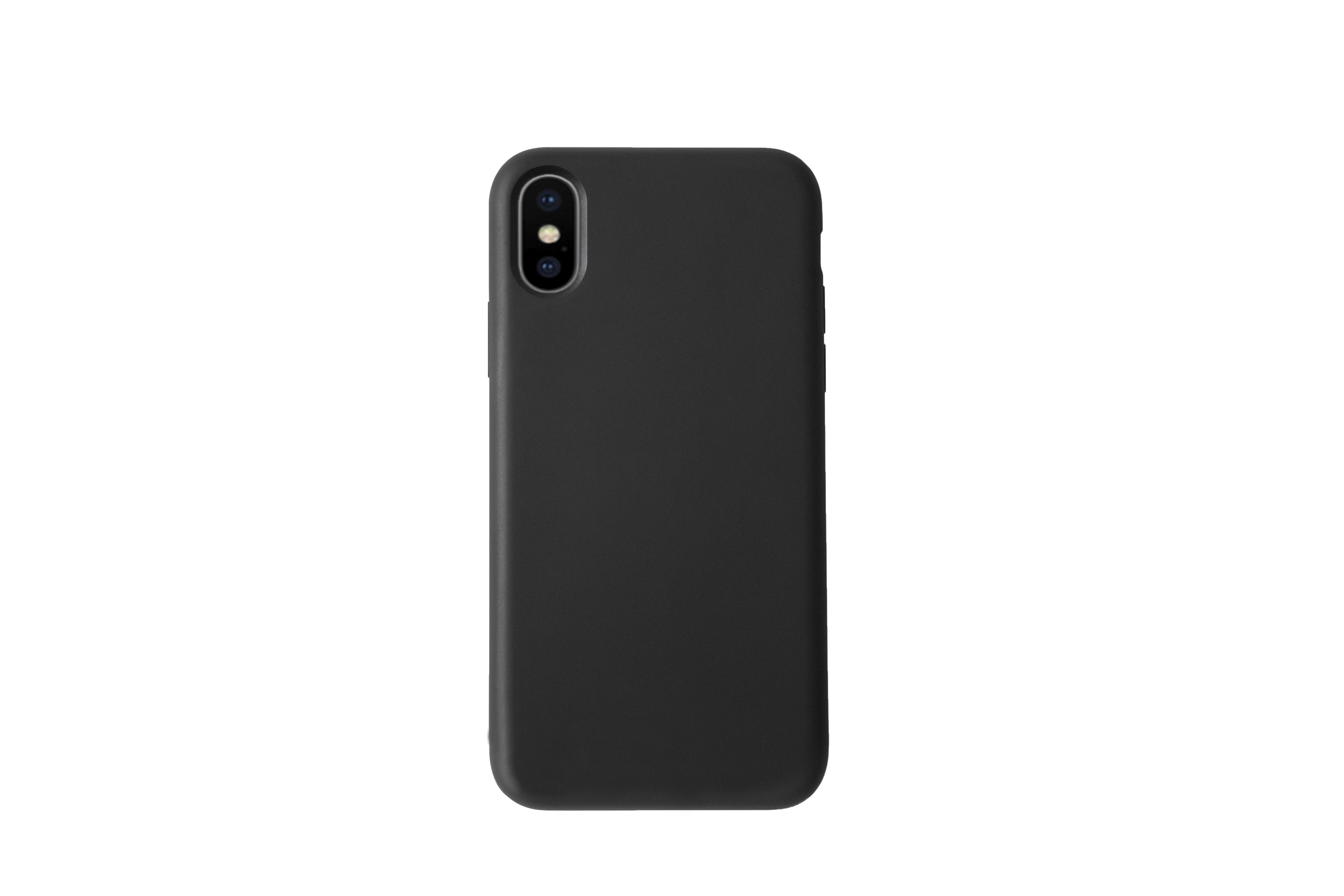 KMP Handy Schutzhülle Silicone Case für iPhone XS Max-black