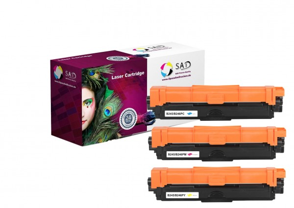 3er Pack SAD Premium Toner komp. zu Brother TN-245 / TN-246 C M Y