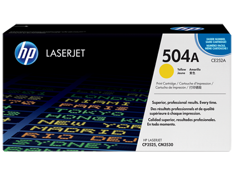 Original HP Toner CE252A für LaserJet CP 3525 etc. yellow