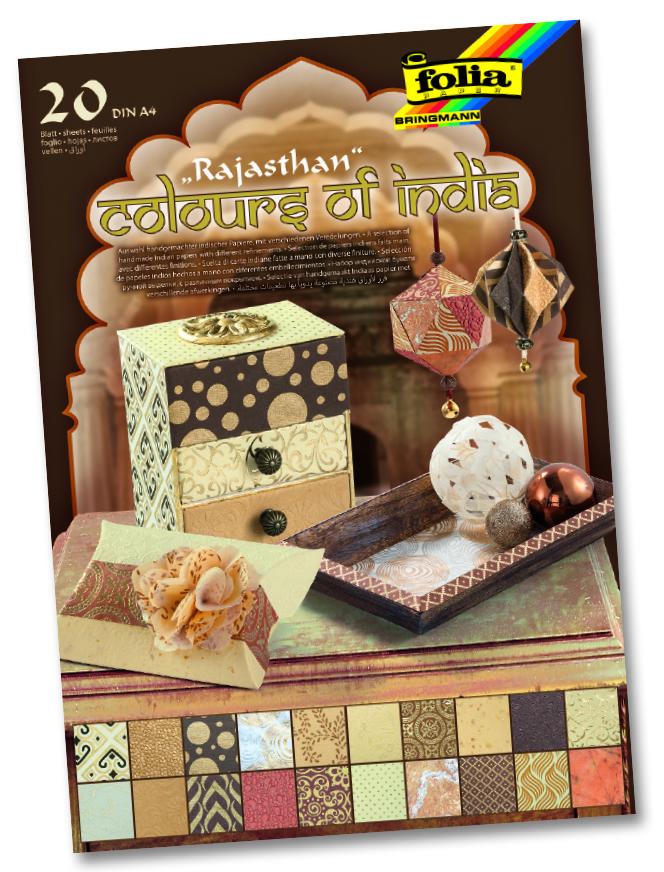 "Folia Naturpapier Block ""Colours of India"" RAJASTHAN"