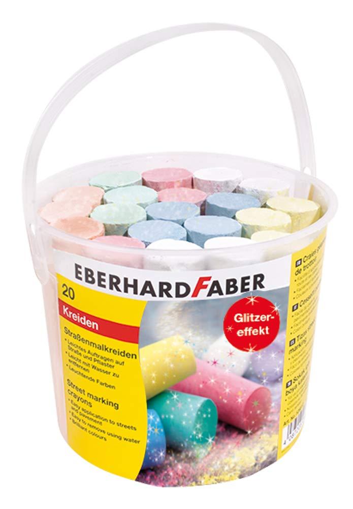 Eberhard Faber 526520 - Straßenmalkreide GLITZER - Effekt, 20er Eimer